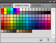 The Photoshop swatch palette